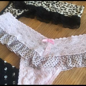 Victoria's Secret Intimates & Sleepwear - Beautiful Lacey Ruffle Thongs from VS Collection